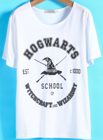 White Short Sleeve Letters Print Loose T-Shirt $11.90