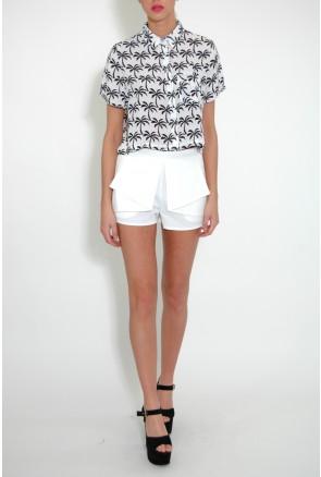 White & Black Palm Print Shirt £15.00