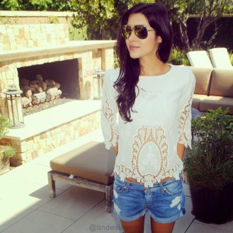 Floral White Cut Out Top $20.00 USD