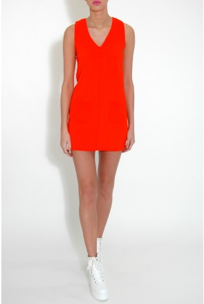 Orange Pocket Shift Dress £20.00